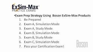 Boson ExSim-Max - How to Prepare for your Certification Exam
