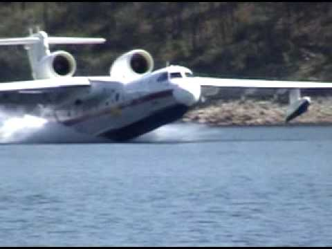 Seaplanes pick up water
