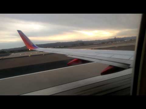 Southwest Airlines Boeing 737-700 Takeoff from Phoenix Sky Harbor International Airport