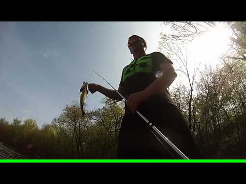 GoPro Hero 3 Canoe Bass Fishing Close Call