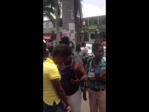 Beenie Man stop traffic in St Kitts.
