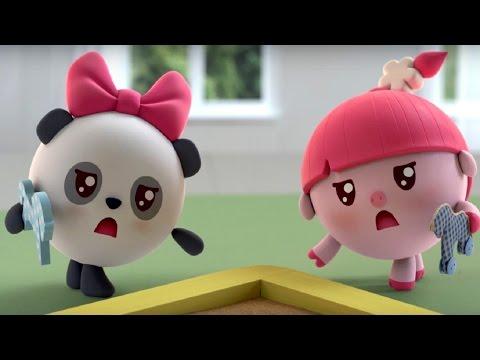 Малышарики - Обучающий мультик для малышей - Все серии подряд -  про Нюшеньку и Пандочку😀😚👄👩👑