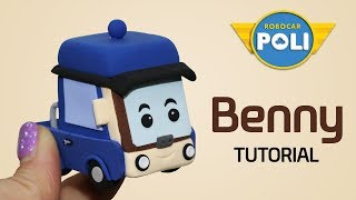 Transformed into clay♥ Benny became so soft!   Friends of Robocar POLI   Gony's Claytown