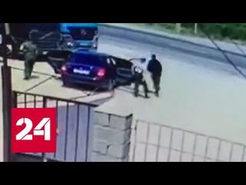 Убийцы дагестанских полицейских попали в объектив видеокамеры