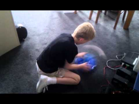 How to keep kids with ADHD amused - Quantum and the cat toys :)