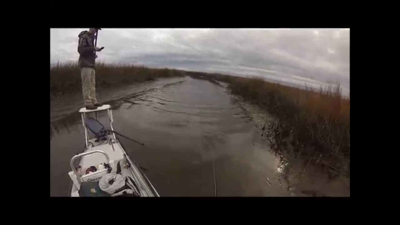Wrightsville Beach NC sight fishing for redfish   2014