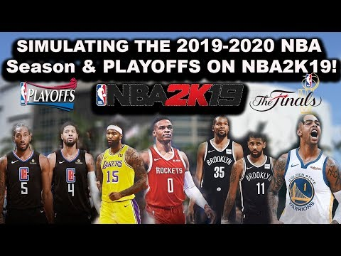 The 2019-2020 NBA Season \u0026 Playoffs Simulated in NBA2K19!!! (LIVE GAMES)