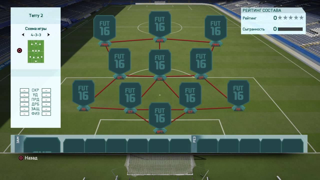 Футбольные схемы фифа 17
