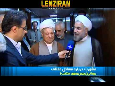 Hashemi Rafsanjani and two Ahmadinejad ministers meet Hasan Rohani