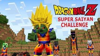Monster School: Dragon Ball Z Challenge - Super Saiyan (Minecraft Animation)