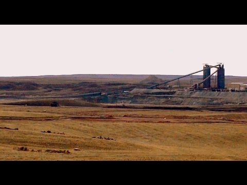 World's Largest open pit coal mine : Peabody Corp's Antelope mine in Powder River Basin, Wyoming