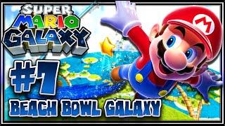 Super Mario Galaxy (1080p 60FPS 100%) - Part 7 Beach Bowl Galaxy