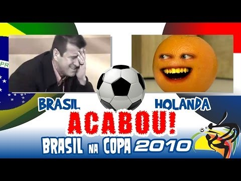 Brasil x Holanda - Piores Momentos da Copa de 2010 - Full HD