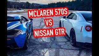 McLaren 570S vs Nissan GTR