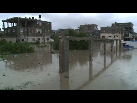 Heavy rain causes severe floods in Gaza Strip