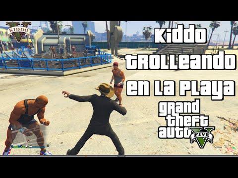 GTA 5 - Kiddo Trolleando en la Playa