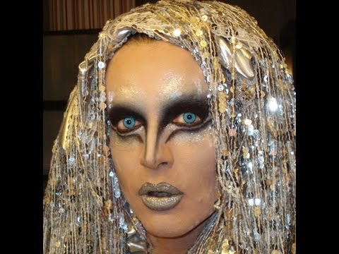 DRAG QUEEN MAKEUP TRANSFORMATION - SUPER GOTH SILVER EYES!