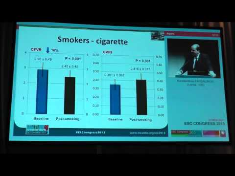 E-cigarettes and coronary circulation-European Society of Cardiology 2013