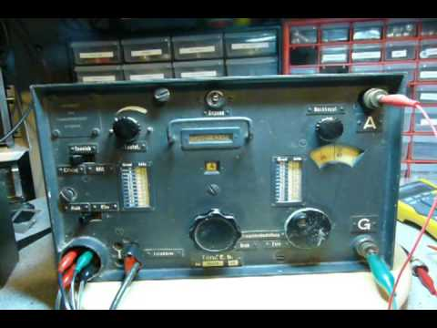 German Wehrmacht WWII Military Radio Torn.E.b is Operational