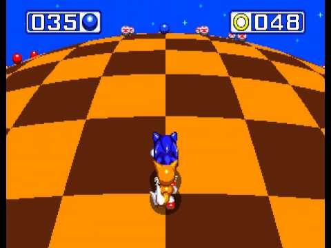 Sonic the Hedgehog 3 - Sonic the Hedgehog 3 - Sega Genesis - first emerald and a perfect (all rings collected) - User video