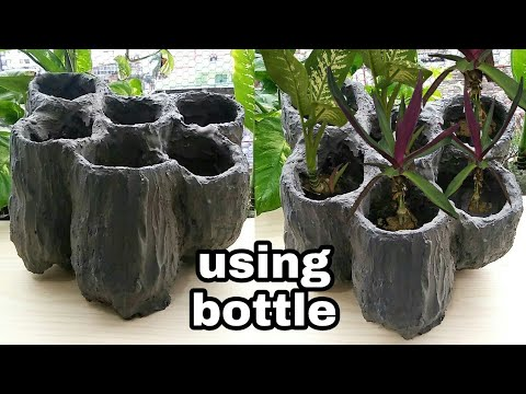 How to make waterfall fountain style cemented pot