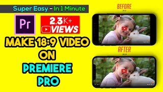 How To Make 18:9/19:9 Video On Adobe Premiere Pro CC From 16:9 Aspect Ratio (Easy) | Aroundthealok
