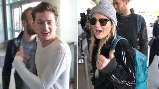 Meghan Trainor Reveals Charlie Puth Is A'Very Good' Kisser Catching Flight Together At LAX