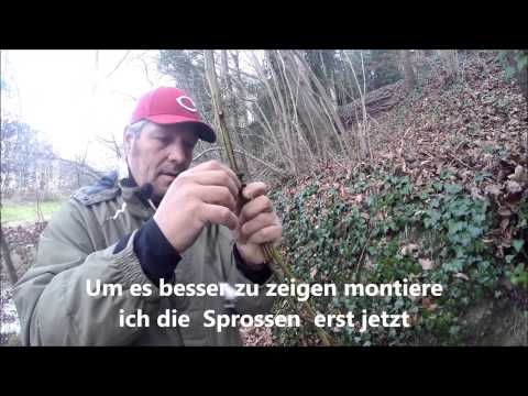 Survival-Kurse Strickleiter Aus Brombeere /Rope Ladder From Raspberry Shrub