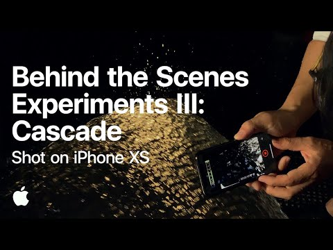 Shot on iPhone XS — Experiments III: Cascade (Behind the Scenes) — Apple