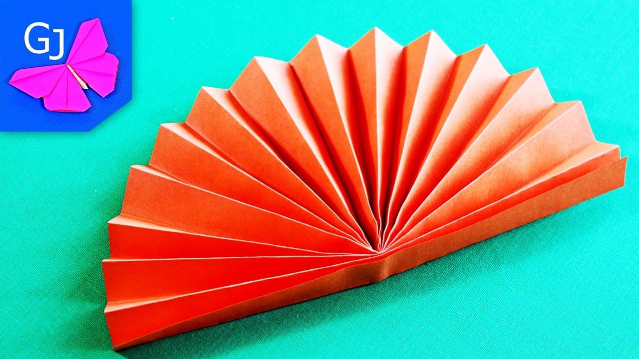 Лисичка гармошка из бумаги своими руками