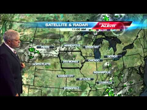 Thursday weather: Cold front to bring scattered rain and thunderstorms