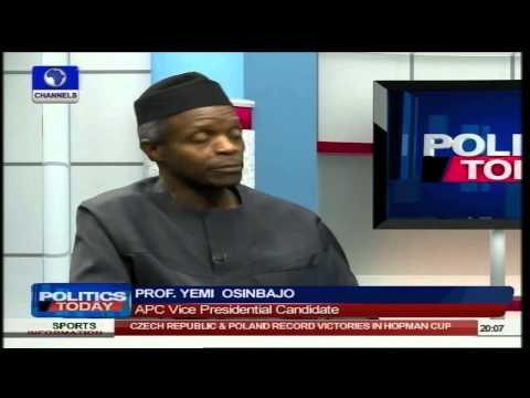 Professor Osinbajo Explains Role in Politics As A Pastor