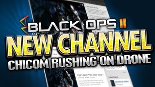 Black Ops 2_ *NEW CHANNEL* Chicom Rushing on Drone - 3 SWARMS in 1 life (BO2 Gameplay)