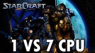StarCraft Brood War - Terran vs 7 Random Computer - Map: Big Game Hunters (Walkthrough)