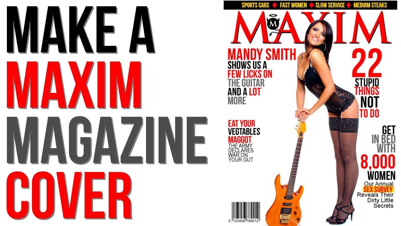 Book Cover Design Gimp : Gimp tutorial create a maxim magazine cover youtube