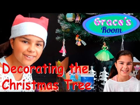Grace's Room - Decorating the Christmas Tree