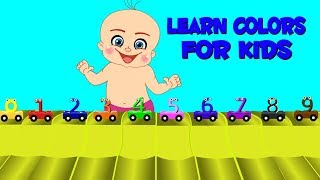 Play And Learn Colors For Kids With Baby Game | Little Boy Play With Number Train | Coloring Videos