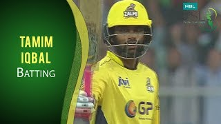 PSL 2017 Match 9: Peshawar Zalmi v Quettta Gladiators - Tamim Iqbal Batting