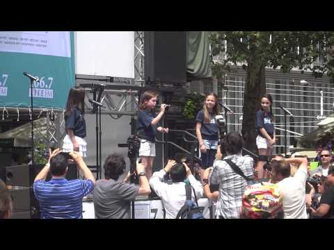 Matilda performs at Broadway in Bryant Park