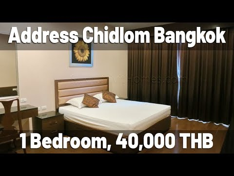 Address Chidlom Bangkok one bedroom apartment 65 sqm 40.000 baht