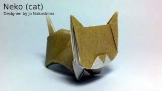 Origami Neko (cat) (jo Nakashima)