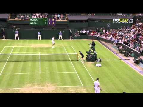 Lukas Rosol's best rallies against Nadal