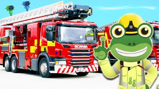 Gecko and the Fire Truck   Gecko's Real Vehicles   Trucks For Kids   Educational Videos For Toddlers