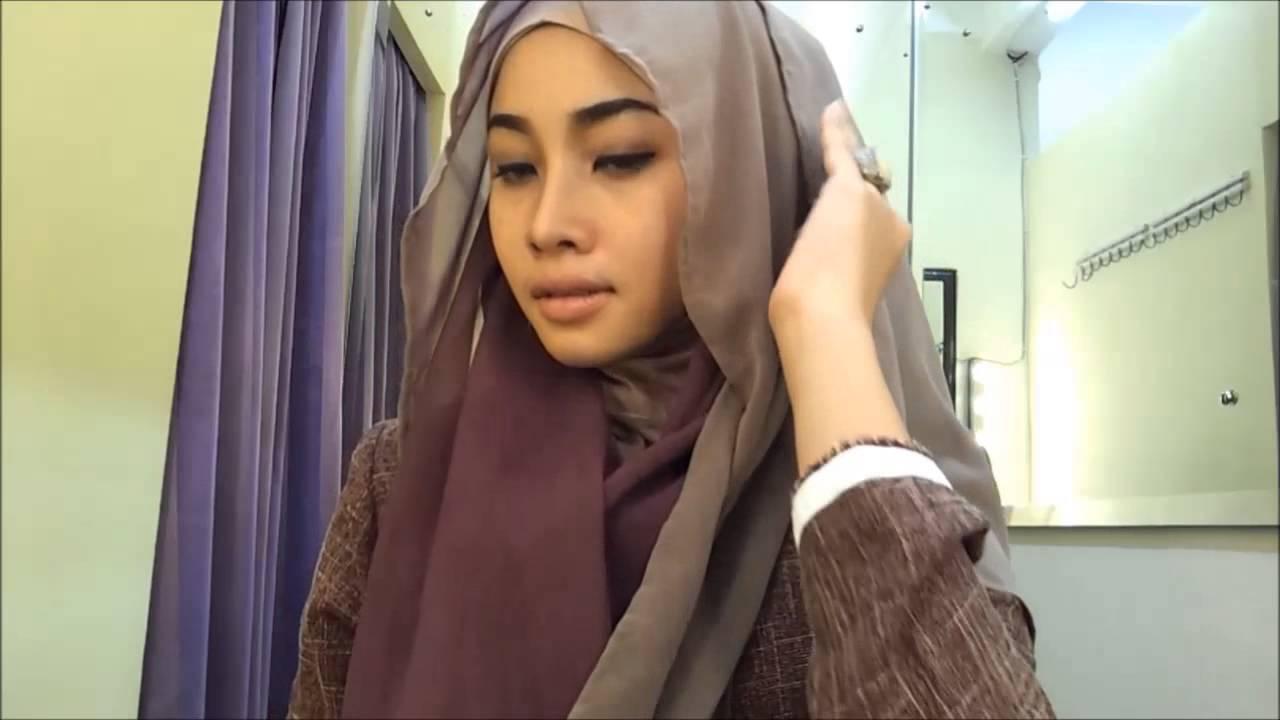 Hijab tutorial #9 Comfy Hijab by Irna Dewi - YouTube
