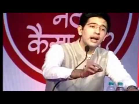 Raghav Chadha answering questions and clearing Doubts about Aam Aadmi Party