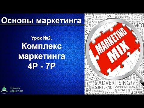 Комплекс маркетинга 4P-7P.  Маркетинг микс. Основы маркетинга. Урок 2