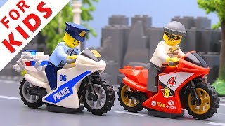 LEGO Police сhase Compilation. Lego Stop Motion Animation