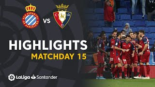 Highlights RCD Espanyol vs CA Osasuna (2-4)
