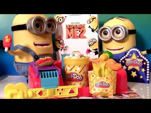 This is Play-Doh Poppin' Movie Snacks Playset movie treats and desserts and I'm also unboxing movie Despicable Me 2 Digibook Blu-ray DVD Exclusive from Targe...