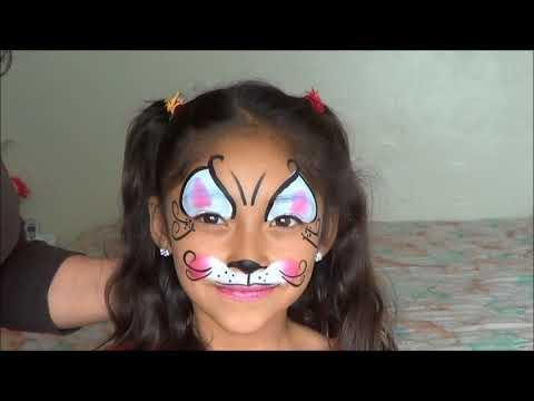 GATITA  (PINTACARITAS) .- FACEPAINTIG  KITTY CAT